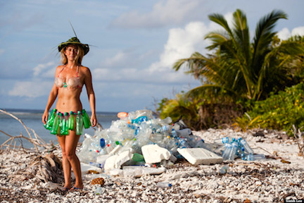 Naked and Afraid star returns to clean up the island where she survived during hit Discovery TV show